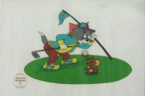 Limited Ed. Sericel, Tom And Jerry Golf #2