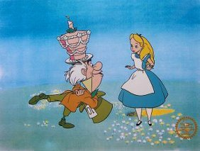 Disney Alice In Wonderland Sericel Cel