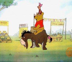 Disney Winnie The Pooh & Piglet Orig Art Sericel