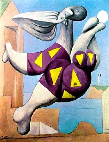 BATHER WITH BEACH BALL Picasso Estate Signed Giclée