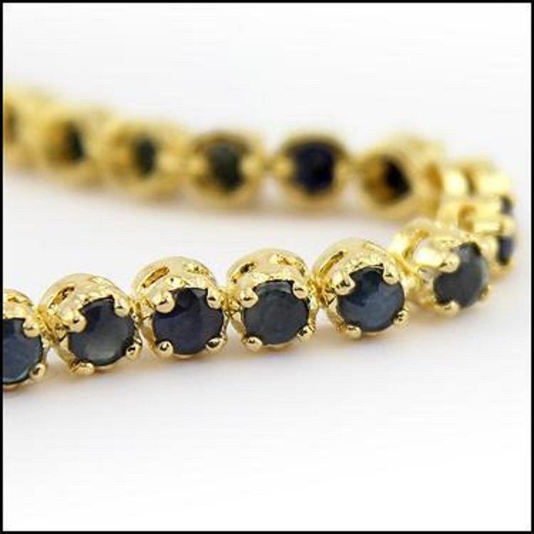 10.32 CT Sapphire Tennis Designer Bracelet $1285 - 2