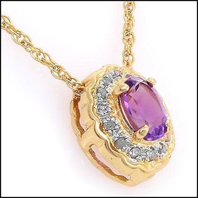 2.45 CT Amethyst & Diamond Designer Necklace $680
