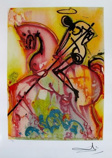 "Dali Ltd Ed. Lithograph ""ST. GEORGE AND THE DRAGON"""