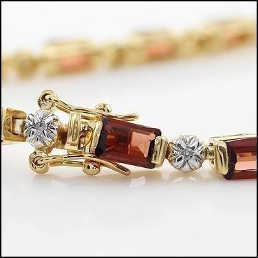 11.39 CT Garnet & Diamond Designer Bracelet - 2