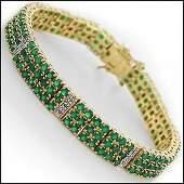 2219 CT Green Agate  Diamond Designer Bracelet