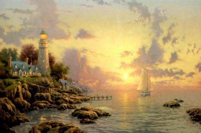 Kinkade Fine Art Lithograph Sea of Tranquility