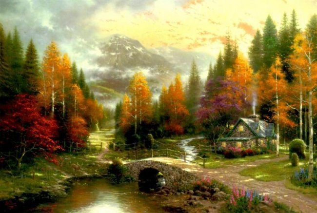 Kinkade Fine Art Lithograph Valley of Peace