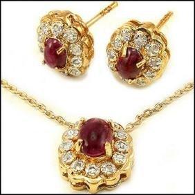 3.84 CT Ruby & Diamond Designer Set $985