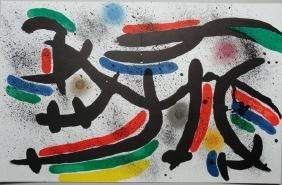 "Joan Miro 1972 ""IX"" Original Lithograph"
