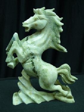 REAL JADE RUNNING HORSE