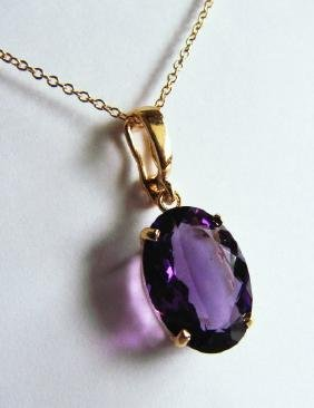 4.70 CT Amethyst Pendant Appraised at 3,200