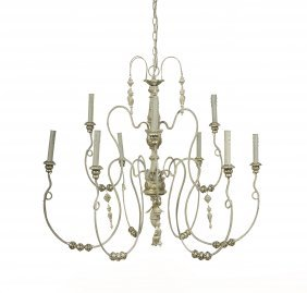 Italian Provincial-Style Painted Chandelier