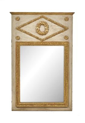 French Directoire-Style Parcel-Gilt Mirror