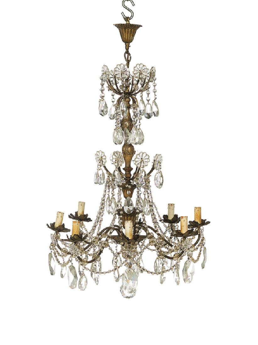Continental Rococo-Style Chandelier