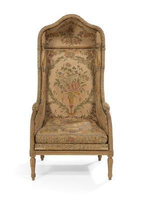 Louis XVI-Style Polychrome Porter's Chair