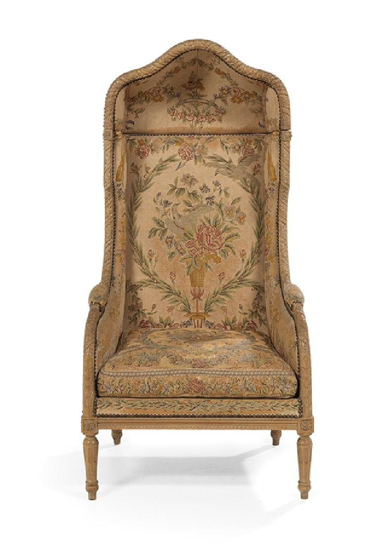 Louis XVI-Style Polychrome Porter's Chair