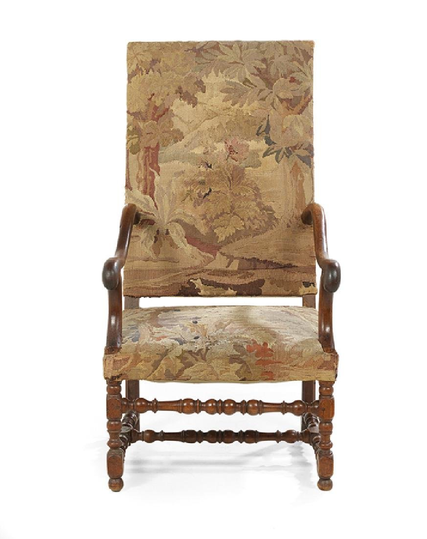 Louis XIII-Style Fruitwood Fauteuil a la Reine
