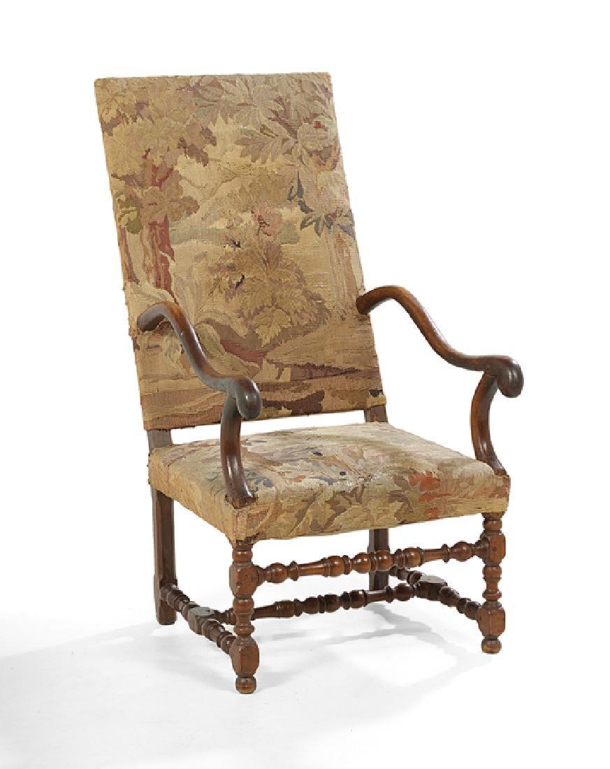 Louis XIII-Style Fruitwood Fauteuil a la Reine - 2