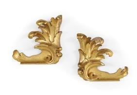 Pair of Italian Giltwood Carvings