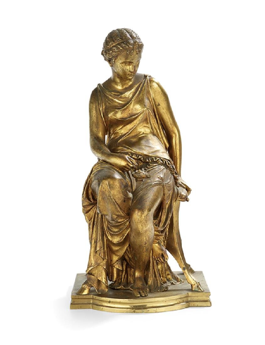 """French Gilt-Bronze Sculpture of """"Helen of Troy"""""""