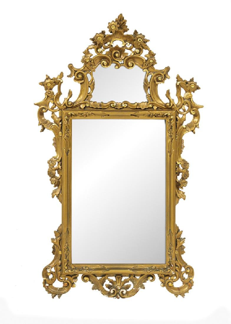 Italian Giltwood Mirror in the Rococo Taste