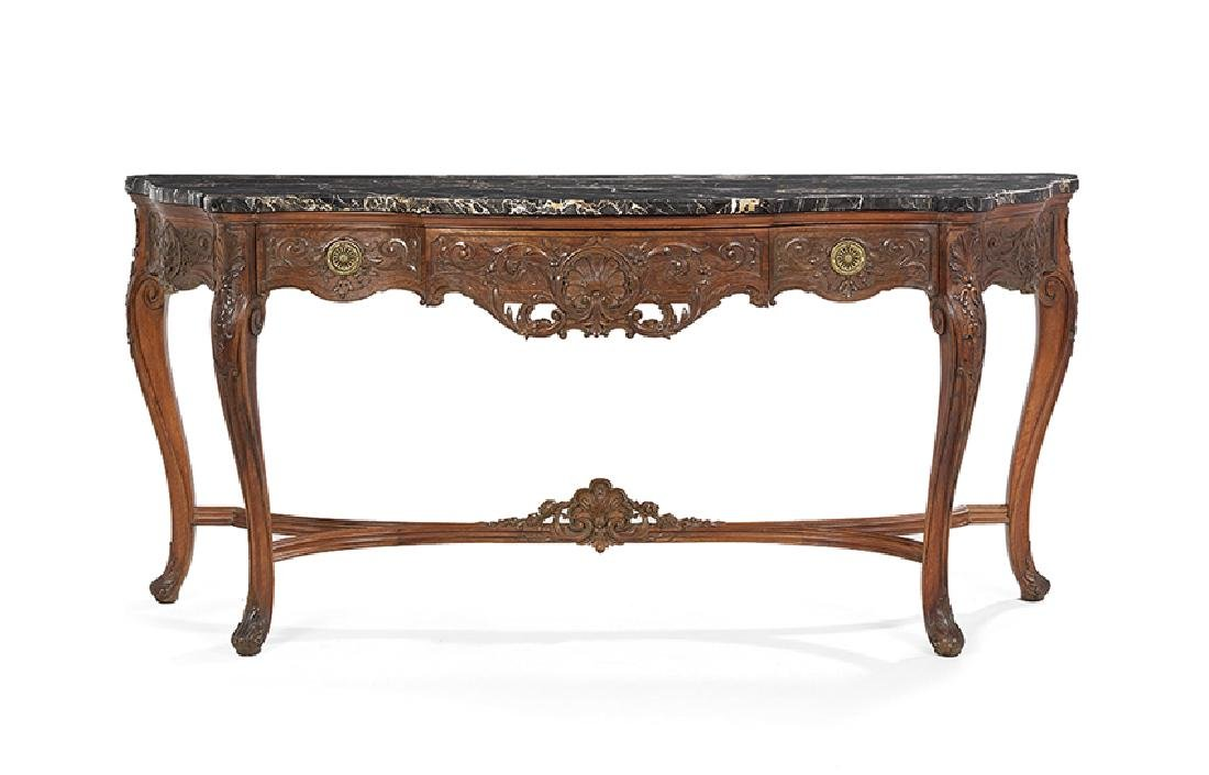 Italian Rococo-Style Marble-Top Side Table