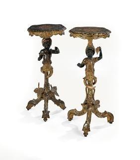 Pair of Italian Blackamoor Occasional Tables