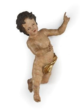 Italian Carved and Painted Putto