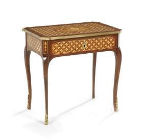 Louis XV/XVI-Style Mahogany Occasional Table