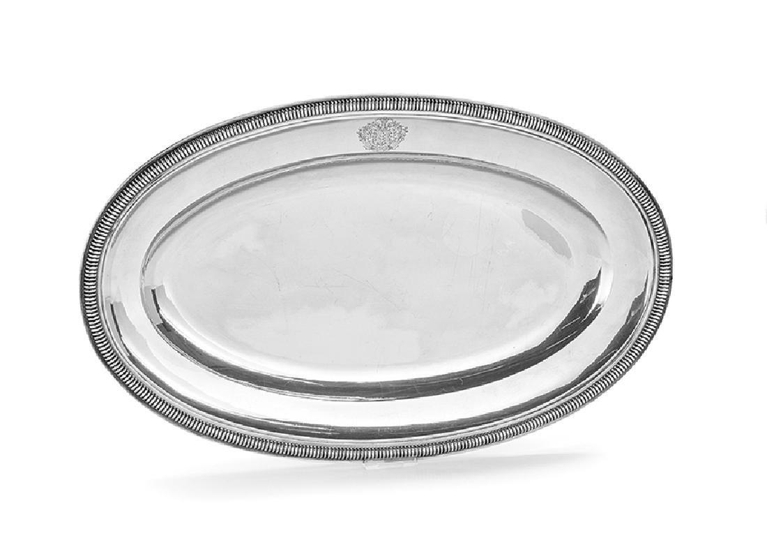 Napoleon III First Standard (.950) Silver Platter