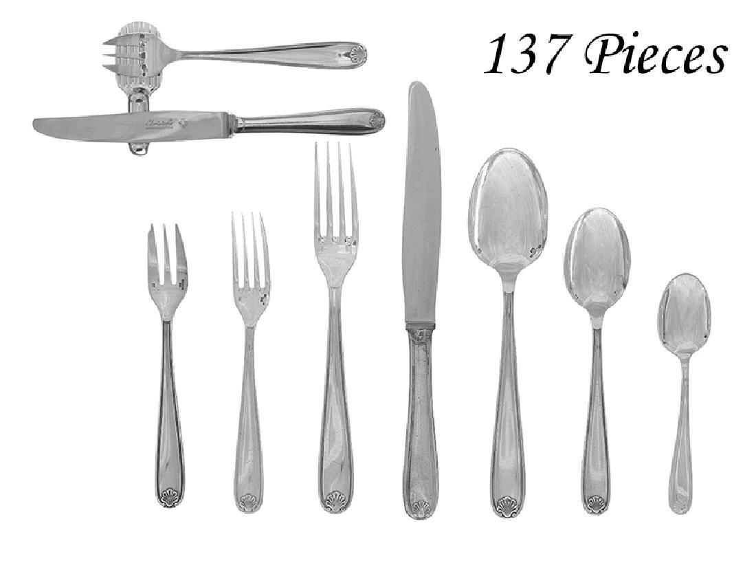 "129 Set of Christofle ""Clement Marot"" Flatware"