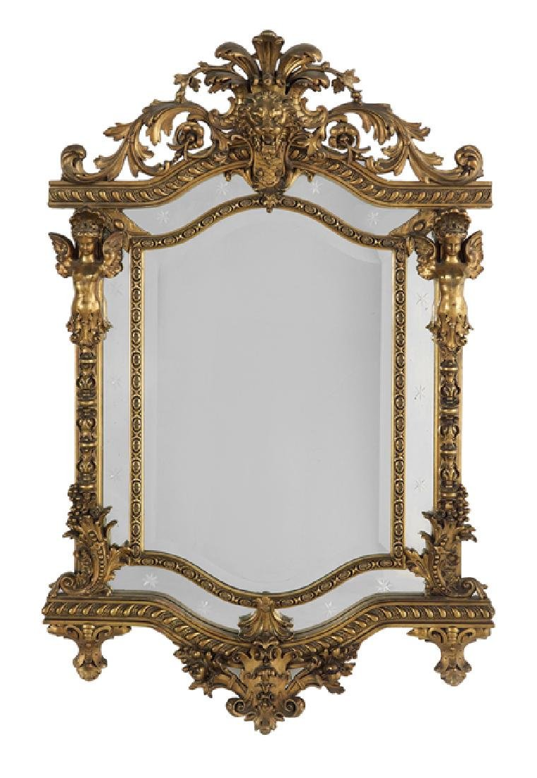 Italian Renaissance-Style Giltwood Mirror