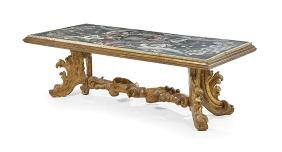 Italian Giltwood and Scagliola-Top Table