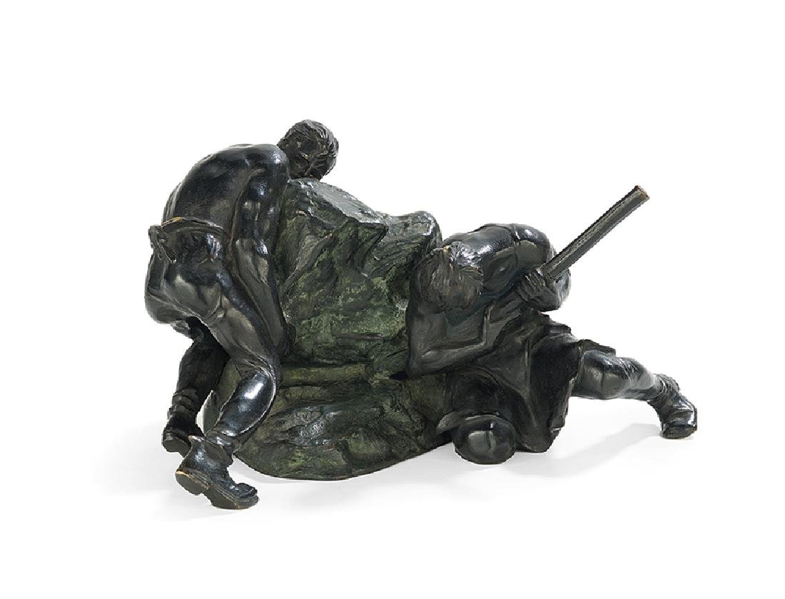 "Austrian Bronze of ""The Rock Movers"""