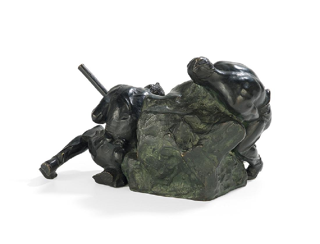 "Austrian Bronze of ""The Rock Movers"" - 2"