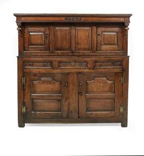 Jacobean Oak Two-Section Court Cupboard