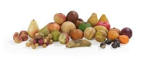 Thirty-Nine Victorian Painted Stone Fruits