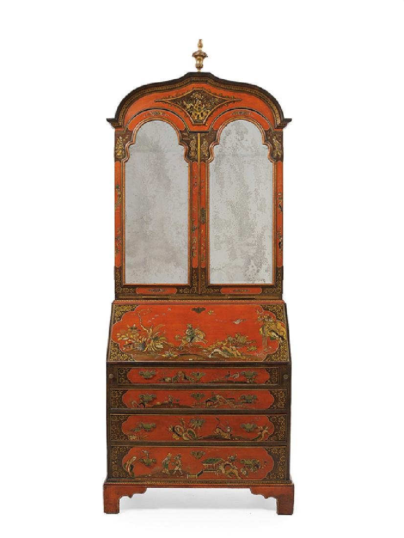 Georgian-Style Polychrome Secretary