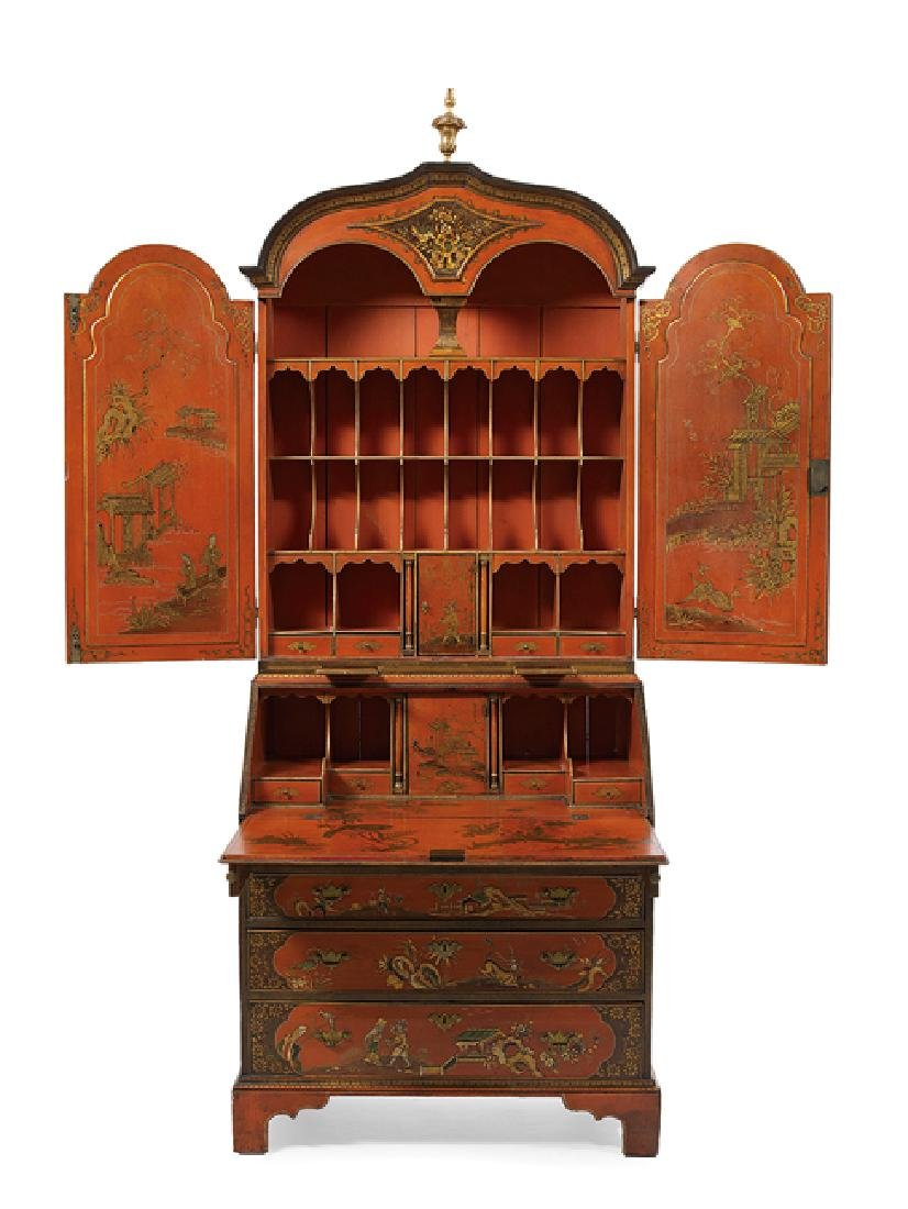 Georgian-Style Polychrome Secretary - 2