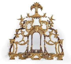 Chinese Chippendale-Style Mantel Mirror