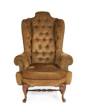 Georgian-Style Mahogany Wing Chair