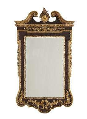 George II-Style Parcel-Gilt and Mahogany Mirror