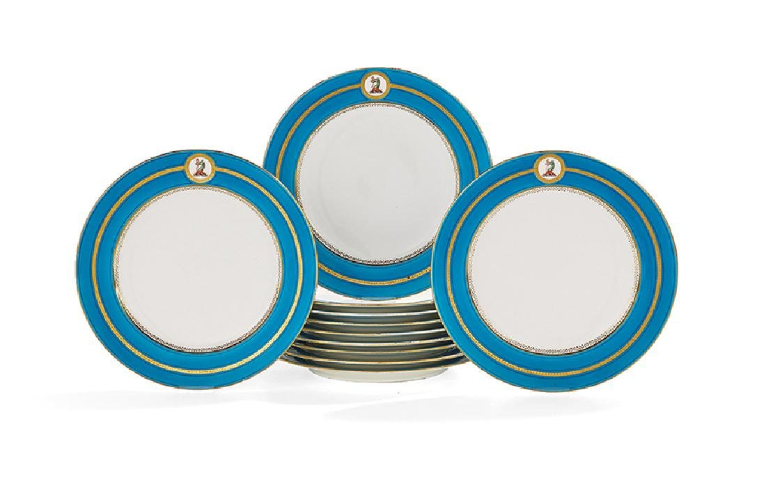 Set of Eleven Minton's Armorial Dinner Plates