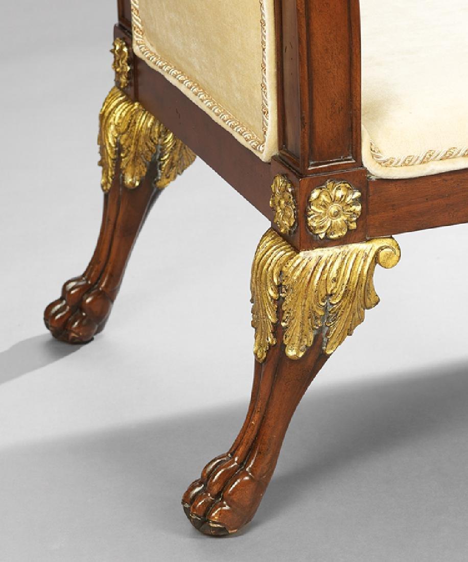 Regency-Style Mahogany Window Seat - 3