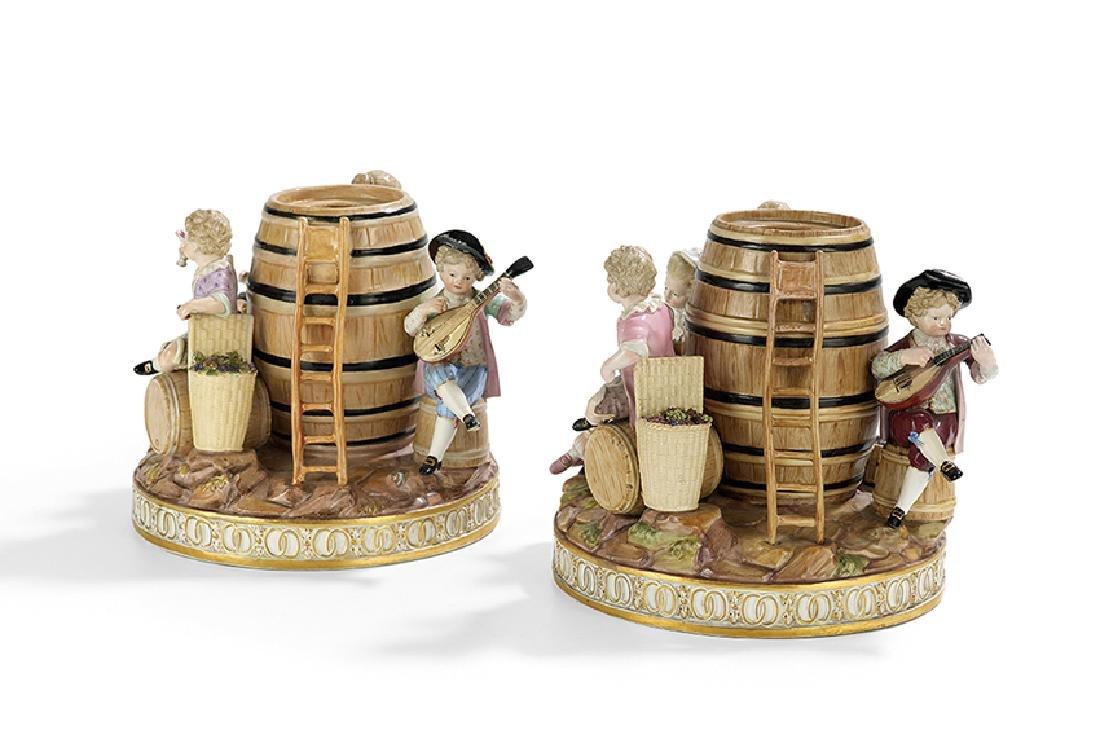 Pair of Meissen Figural Tobacco Jars - 2