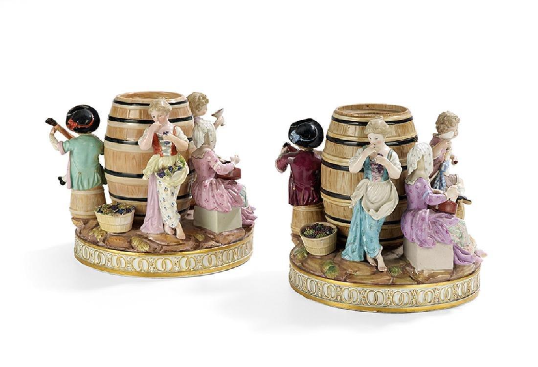 Pair of Meissen Figural Tobacco Jars - 3