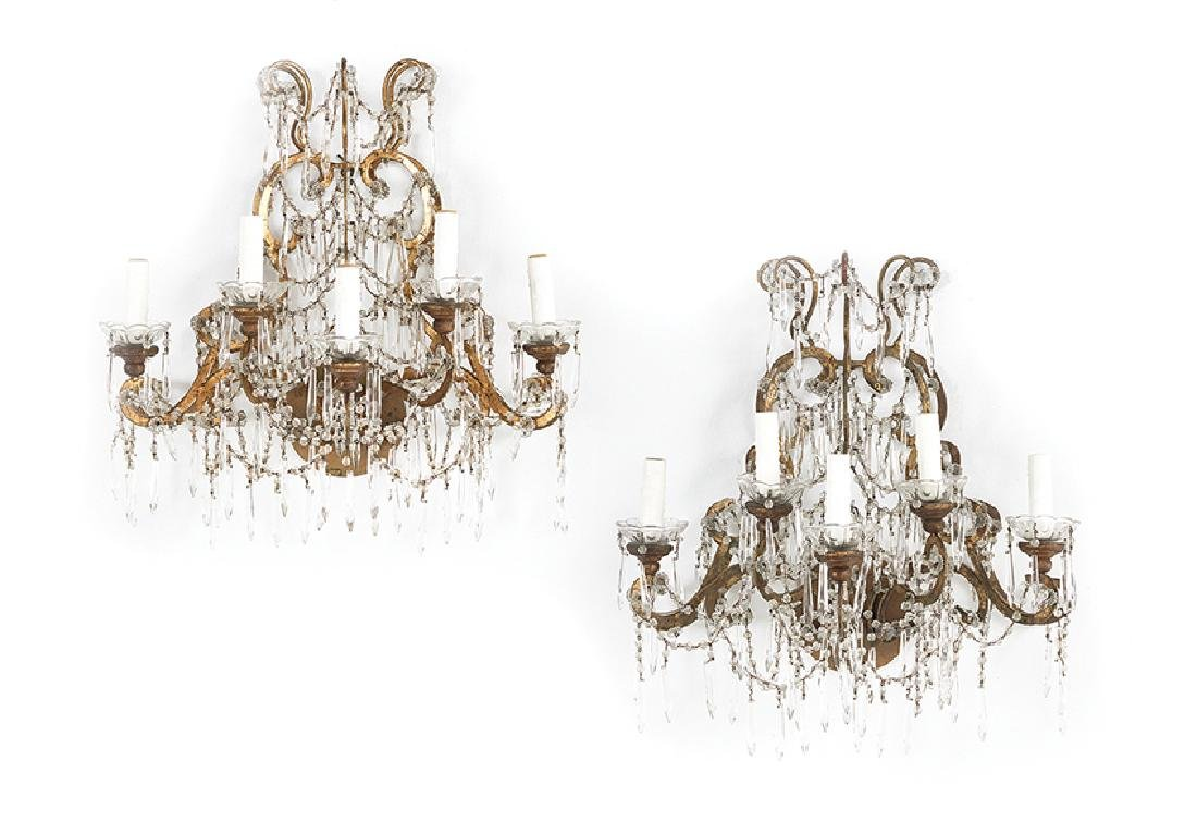 Pair of Maria Theresa-Style Sconces
