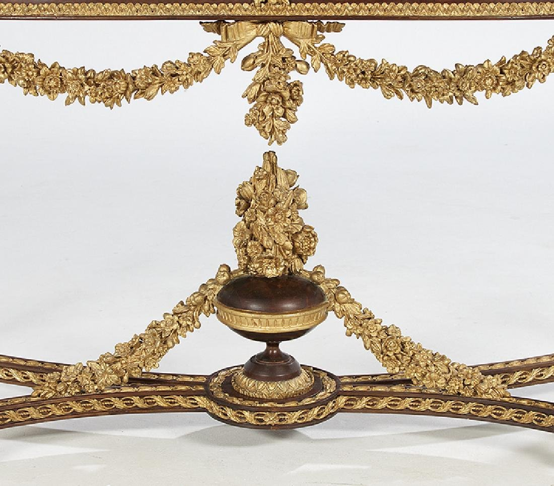Louis XVI-Style Marble-Top Side Table - 5