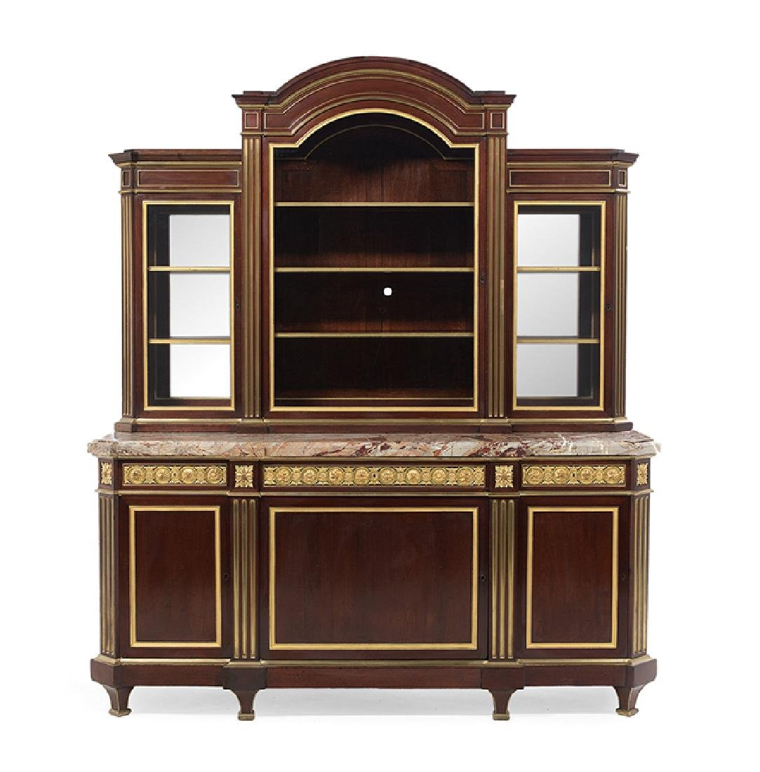Henry Dasson Mahogany and Marble-Top Grand Buffet