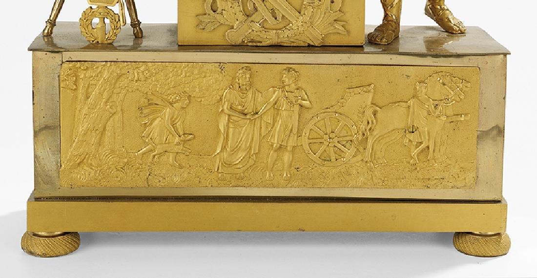 French Empire Gilt-Bronze Mantel Clock - 2
